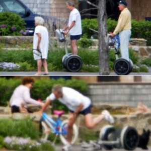Bush falling off a Segway